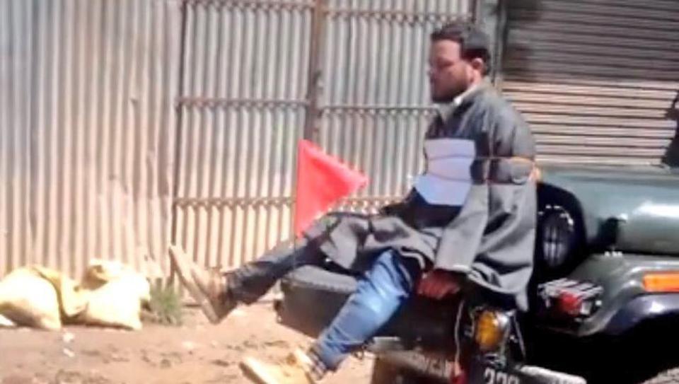 Human shield row: Army major who 'tied' Kashmiri man to jeep honoured