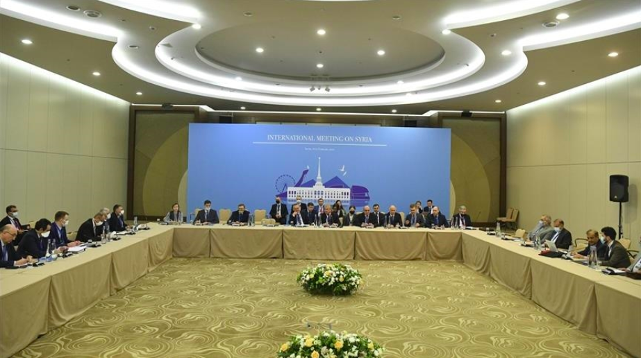 Iran, Turkey and Russia hold Syria meeting: Can a peace process similar to Libya's be achieved?